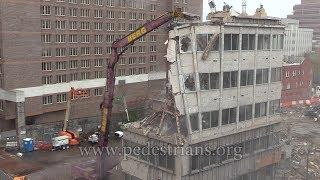Girder Buckles (0:30) During Demolition
