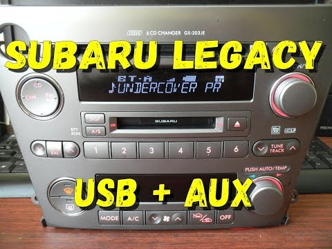 Магнитола Legacy/Outback USB AUX Дорестайл ПРУЛЬ