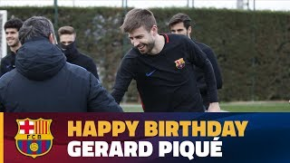 Recovery session for birthday boy Gerard Piqué and the rest of the squad