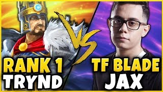 THE ULTIMATE RANK 1 BATTLE! #1 TRYND WORLD VS. TF BLADE JAX! FT. YASSUO - League of Legends
