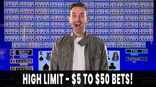 💰 WINNING BIG w/ HIGH LIMIT Video Poker ♠ FULL SCREEN HUGE WIN on Fortune Coin! 👑 BCSlots
