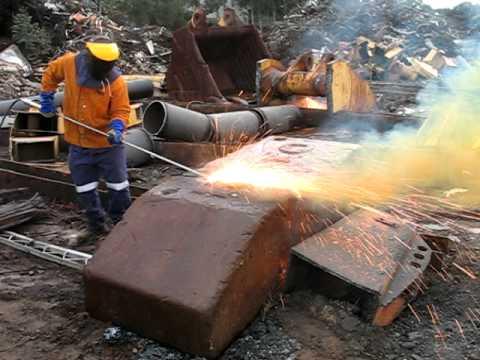 Thermic Lancing Training - Steel Block (Part 2)