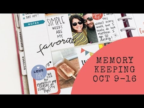 Plan with Me- Memory Keeping October 9-15