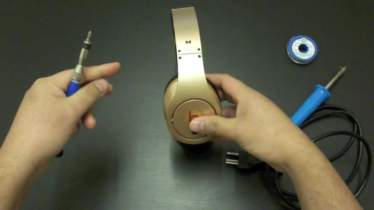 maxresdefault how to fix broken beats by dr dre studio quick tips youtube Beats Headphones Wiring-Diagram at creativeand.co