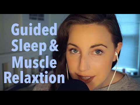 ASMR Close Whisper Guided Sleep / Muscle Relaxation (with co