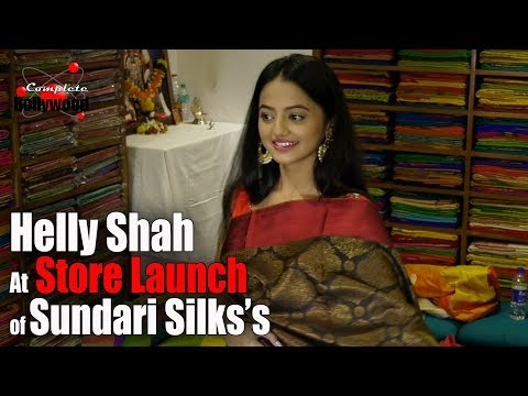 Helly Shah at Store Launch of Sundari Silks's