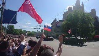 9 Мая 2016.Колонна военной техники. Москва. Часть 1.
