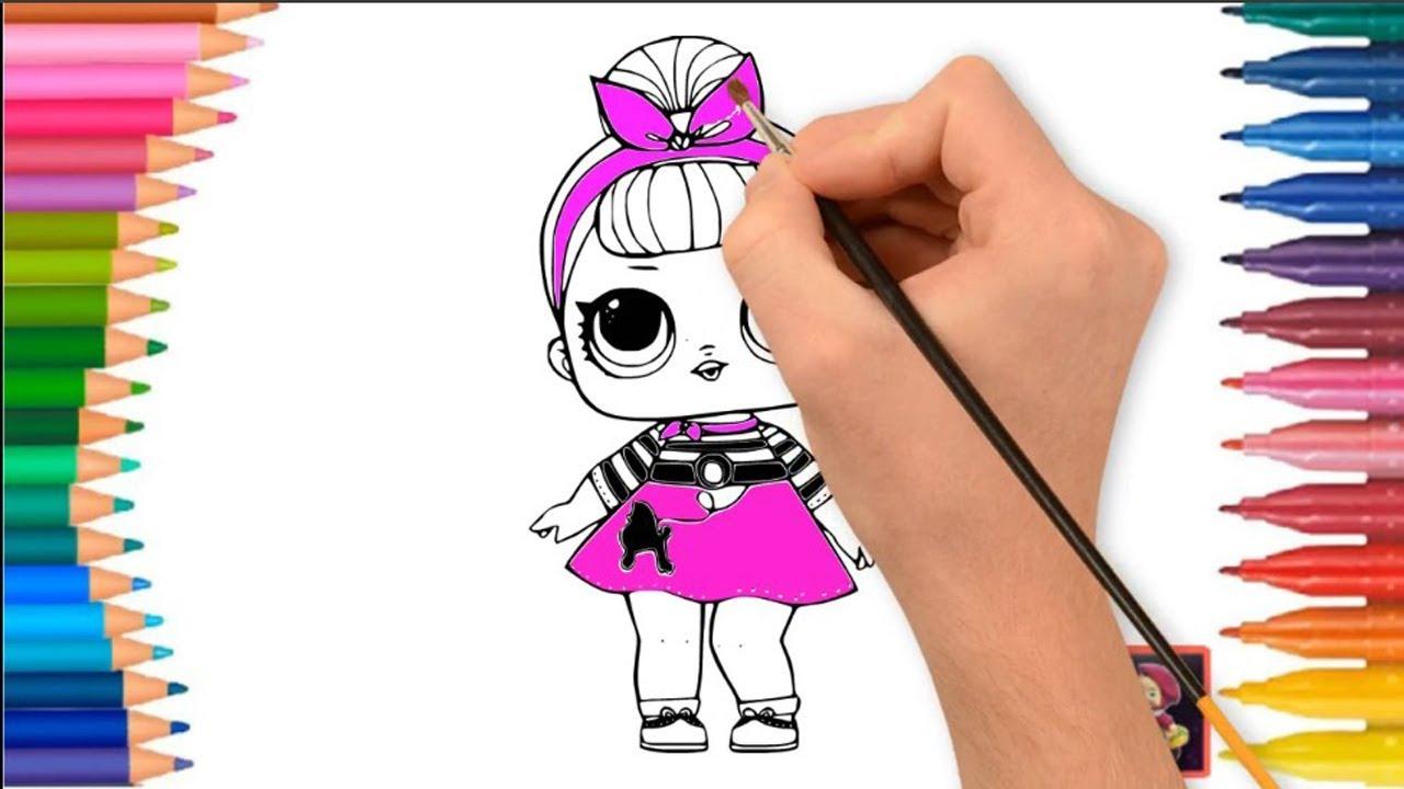 Lol Surprise Dolls Menggambar Dan Mewarnai Lol Dolls Youtube