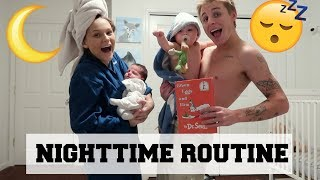 NIGHT TIME ROUTINE WITH A NEWBORN AND TODDLER
