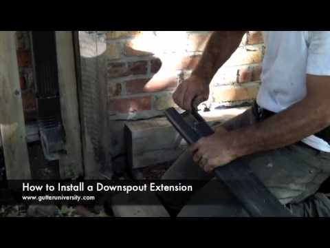 How To Extend A Downspout Doovi