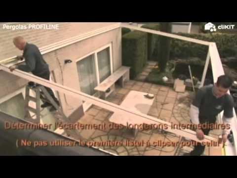 Montage Pergola Aluminium Greenline Profiline Youtube