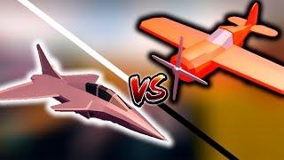 Fighter Jet VS Stunt Plane - PLANES UPDATE JAILBREAK ROBLOX