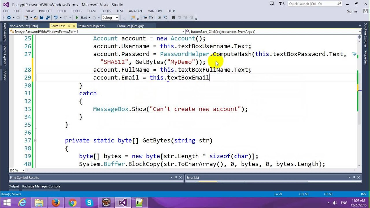 Encrypt Password in Login Form with Windows Forms and Entity Framework