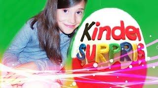 disney egg super giant kinder surprise huge play doh toys by big brother toys
