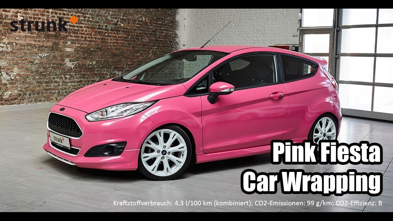 pink ford fiesta car wrapping youtube. Black Bedroom Furniture Sets. Home Design Ideas