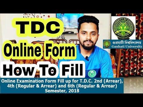 Gauhati University BA/ BCom/ BSc Online Form Fill Up 2018   In Assamese