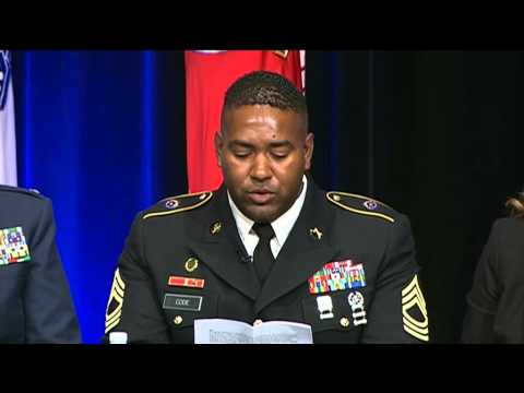 Army Gen. Randy Taylor introduces his husband at Pentagon Ga