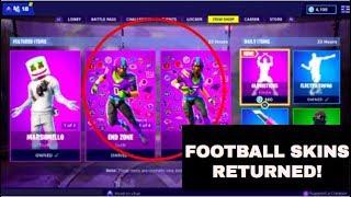 Football Skins Returned! NO CLICKBAIT! | NFL Skins makes their Return! | Fortnite Battle Royale