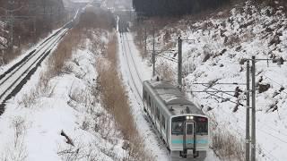 青い森鉄道 キハE130系3729D「快速しもきた」 三沢~小川原 2019年1月20日