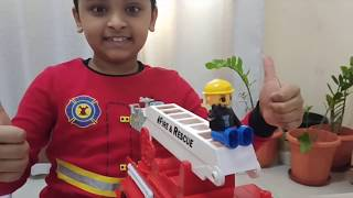 Unboxing Toy Fire Truck.How to assemble Fire Truck Toy. Making Fire Truck Toy