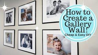 Wie erstelle ich einen GROßEN WAND der GALERIE Unter $50!! Cheap & Easy-DIY