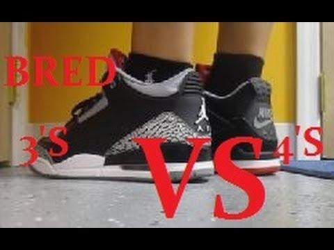 new concept 5f777 b8524 Air Jordan Bred 4 VS Black Cement 3 Sneaker w   DjDelz  PickOne - YouTube