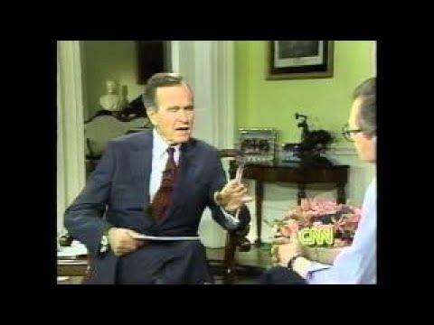 4 1992 1st Appearance on Larry King Live by President Bush