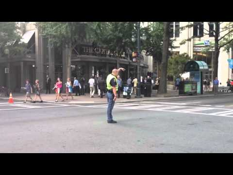 Traffic Cop Breaks Out Michael Jackson Thriller Moves!