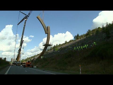 France 24:Watch: 'World's biggest sculpture' installed in Belgium