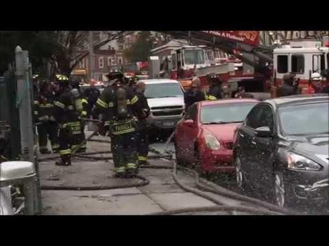 FDNY RESPONDING TO & BATTLING A 2 ALARM FIRE ON MARTENSE STREET IN FLATBUSH, BROOKLYN, NEW YORK.