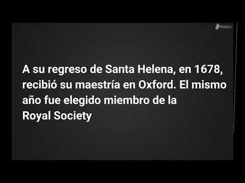 La vida de Edmund Halley /Astronomía para Aficionados