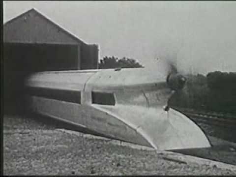 Propellertriebwagen Kruckenberg Schienenzeppelin (1930) Part 1.mpg