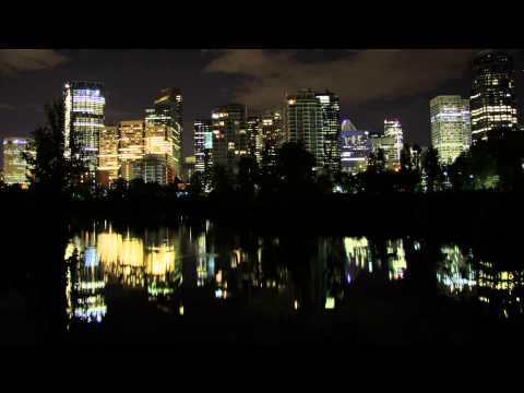 TLP 0028 Free Stock Footage - calgary night reflection