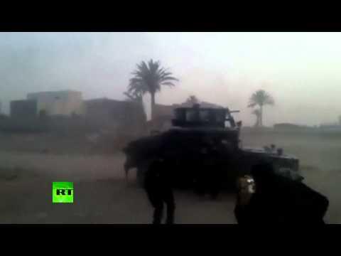 ISIS gunfight footage RAW: Iraqi troops in battle for Ramadi