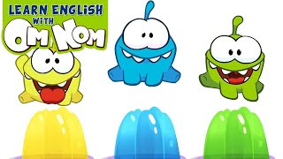 COLORFUL JELLY SLIME | Learn Colors with Jelly Slime Fun Toys for Kids by Om Nom