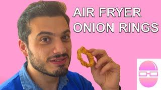 Air Fryer Recipes | Air Fryer Onion Rings | Super Crunchy Onion Ring Recipe | Perfect Crunchy Snack