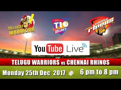 CCL T10 Blast Match Live I Telugu Warriors VS Chennai Rhinos I Dec 25th