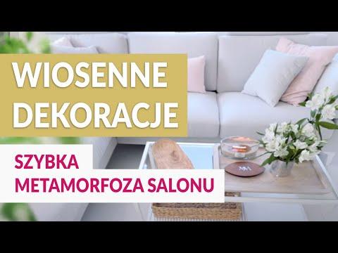 Wiosenne dekoracje - szybka metamorfoza salonu.  ABC DOMU - GREEN CANOE.