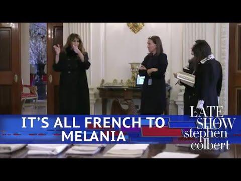 Melania Prepares The White House For Emmanuel Macron