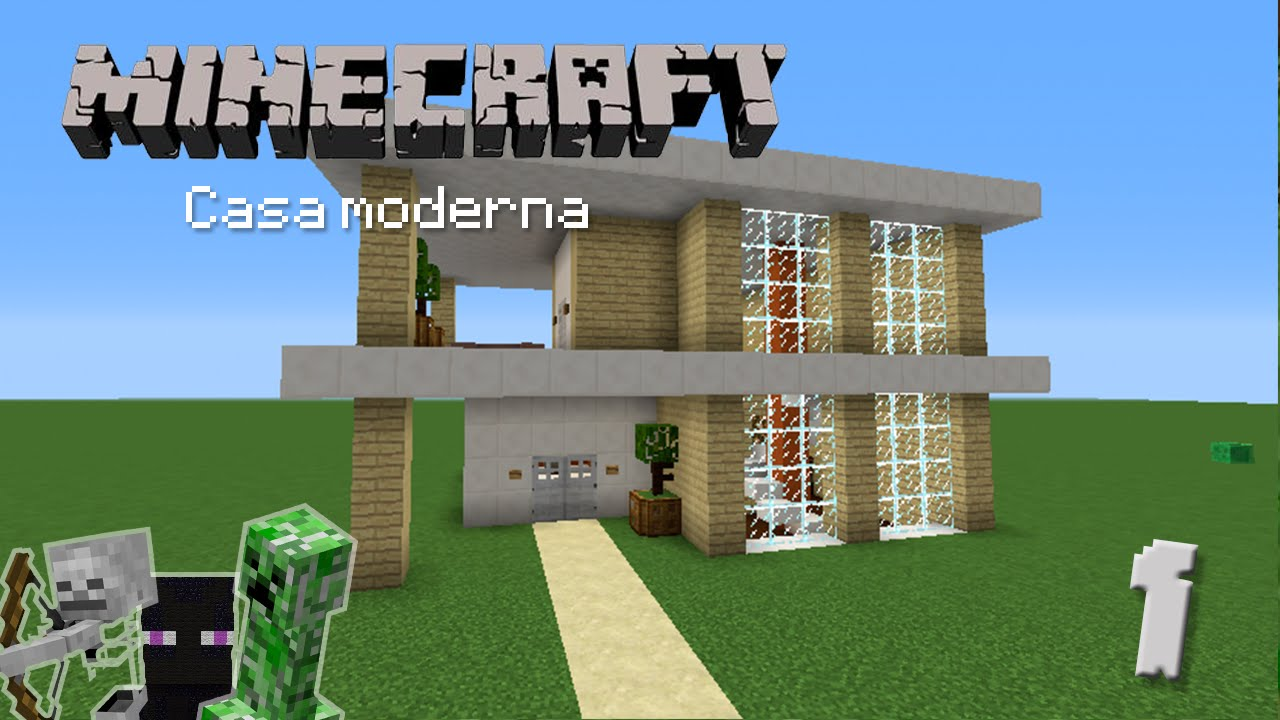 Casa moderna 1 construcci n en minecraft youtube for Casas minecraft planos
