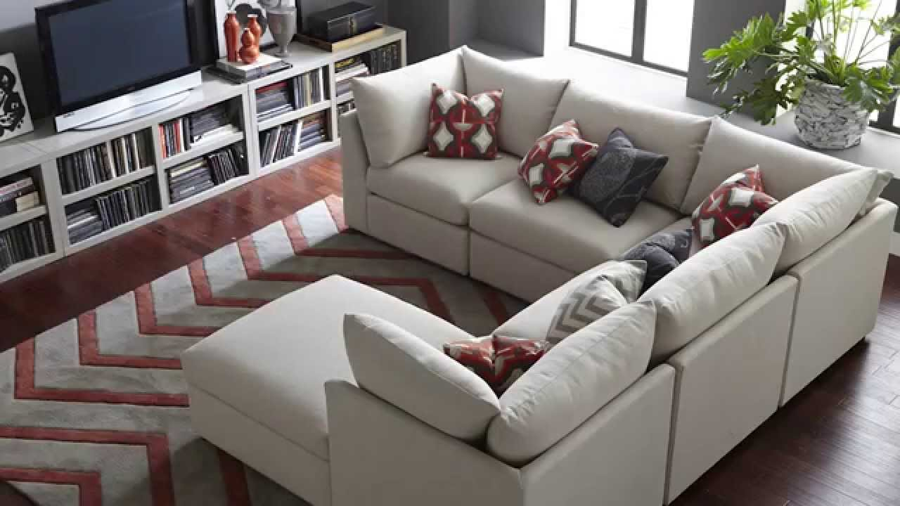 Sofa Pit Couch How To Decorate A Long Table The Beckham Sectional By Bassett Furniture Youtube