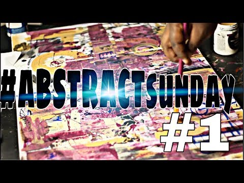 Acrylic Painting for beginners| Abstract Painting Technique | ABSTRACT SUNDAY #1