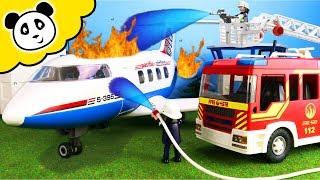 Playmobil Feuerwehr - Brand im Passagierflugzeug - Playmobil Film