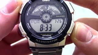 Годинник Casio Illuminator AE-1100WD-1A - Інструкція, як налаштувати від PresidentWatches.Ru