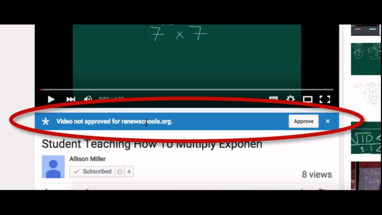 YouTube: Approved Videos in G Suite for Education (Google Apps for Education)