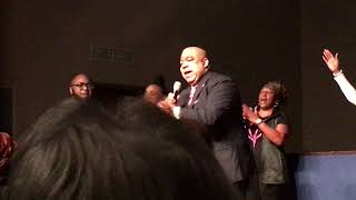 New Orleans Police Superintendent Micheal Harrison speaks at The City of Love church