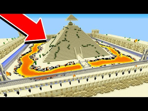 WORLD'S MOST SECURE MINECRAFT PYRAMID! (MAZE RUNNER!)