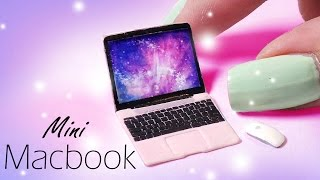 Cute Miniature Macbook (Inspired) // Dolls/Dollhouse DIY