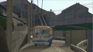 トロリーバス(無軌条電車)  trolley bus