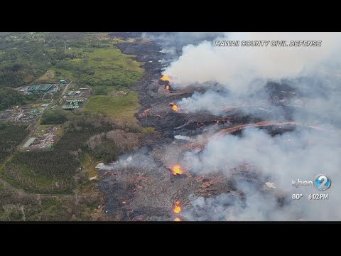 Lava covers Puna Geothermal Ventures well, no hydrogen sulfide released